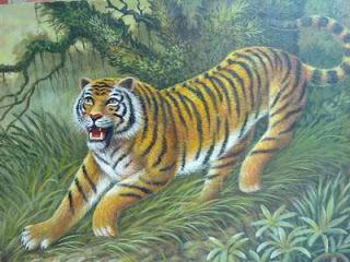 Lukisan menggunakan krayon