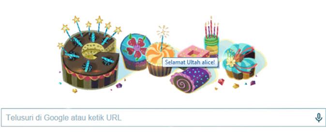 Doodle Ucapan Ulang Tahun Dari Google Untukku