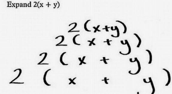 Jawaban absurd dalam ulangan | Expand = memperluas