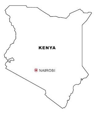 Laminas para Colorear   Coloring Pages: Mapa y Bandera de Kenia para ...