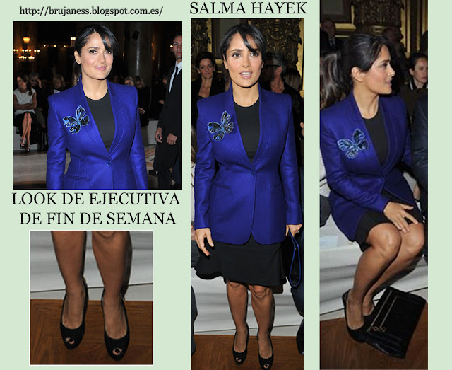 Salma Hayek Stella McCartney Paris Fashion Week 2012-2013.