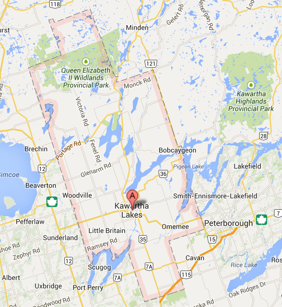 City of Kawartha Lakes map  screen shot