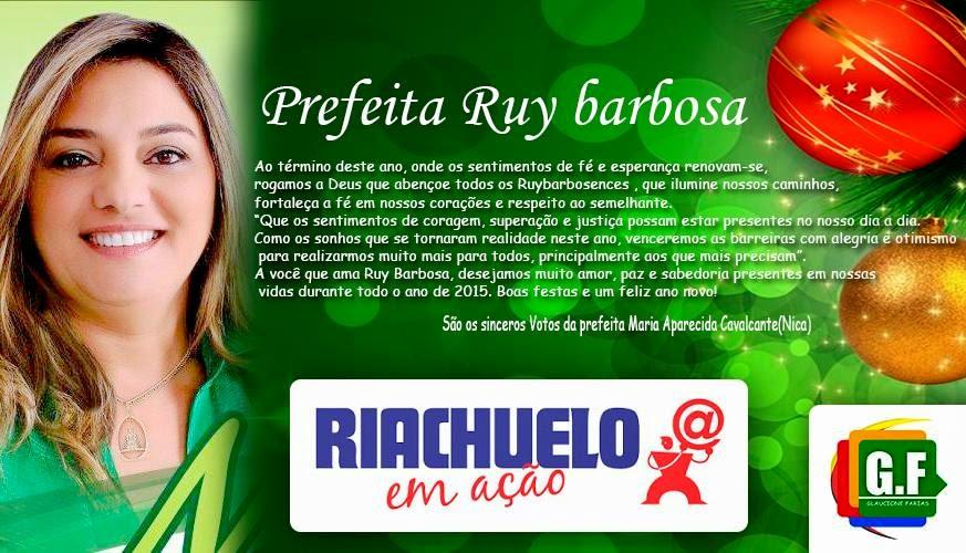 BOAS FESTAS RUY BARBOSA