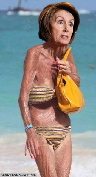 Nancy Pelosi in bikini.