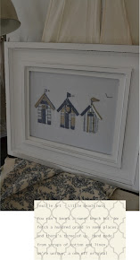 My Custom Made Pretty Beach Huts Textile Artwork