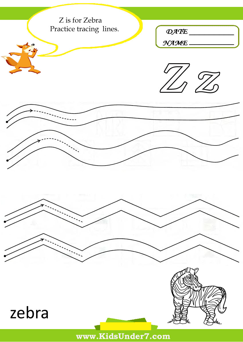 Kids Under 7 Letter Z Worksheets – Letter Z Worksheets