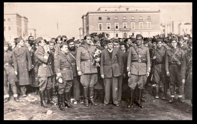 Communist partisans in Tirana, 28 November 1944