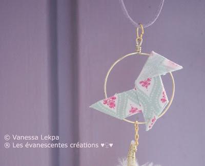 origami bijoux attrape rêves plume évanescentes creations