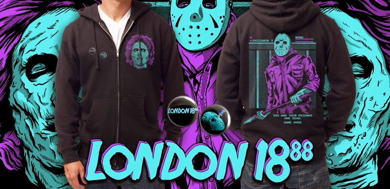 Get Your 8-bit Jason And Mrs. Voorhees Hoodie From London 1888 Now ...