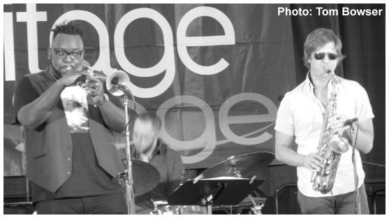 Marquis Hill - Rich Moore - Chinchano - Chicago Jazz Festival 2015   Photograph by Tom Bowser