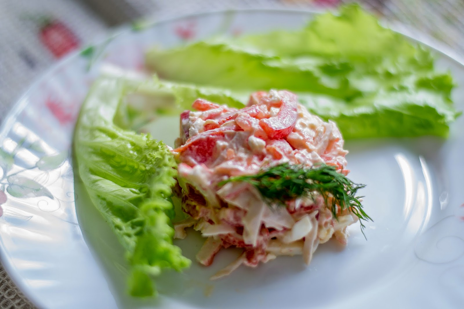 Пошаговое фото салата красное море