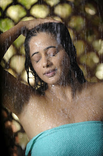 South Actress Priyamani in Towel Wet Photos