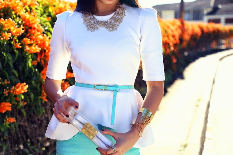 Ellery, white peplum, mint jeans, personal style, sydney street style, Insight Jeans, Mnologie, ASOS, mint, white, Boticca