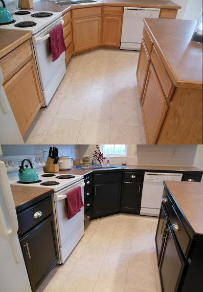 how much cost replace kitchen cabinets picture on Cabinets+Before+and