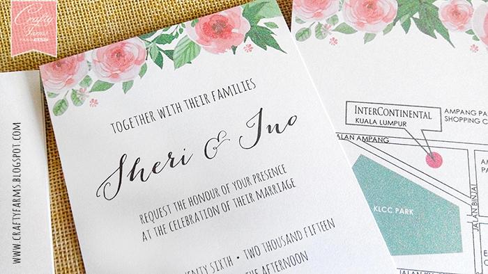 Wedding Gift Card Malaysia : Wedding Card Malaysia Crafty Farms Handmade : Watercolour Flower ...