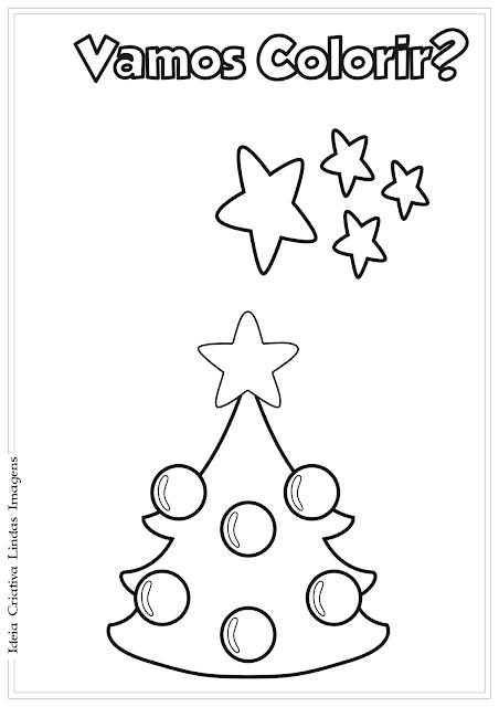 Árvore de Natal desenho para colorir