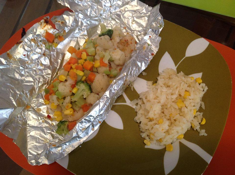 El recetario de ameztre pescado empapelado con verduras y - Arroz con pescado y verduras ...