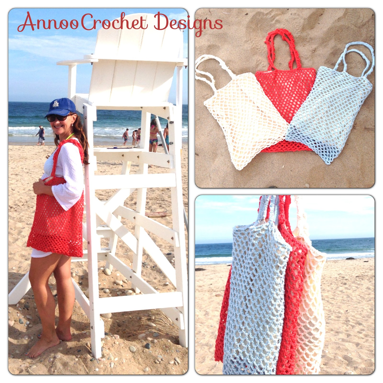 Annoo\'s Crochet World: Vintage Up cycled Beach Bag Free Pattern