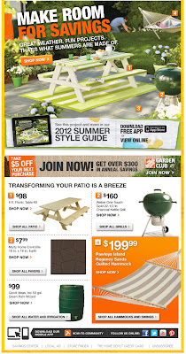 July 26, 2012 Home Depot email