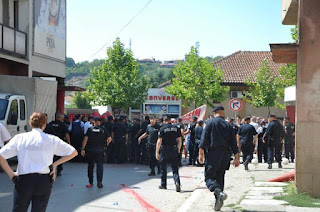 Protest Against Serb Pilgrims in Gjakova, one arrested