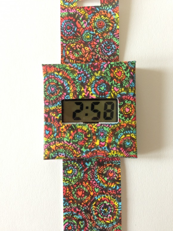 Paper Watch Coloring
