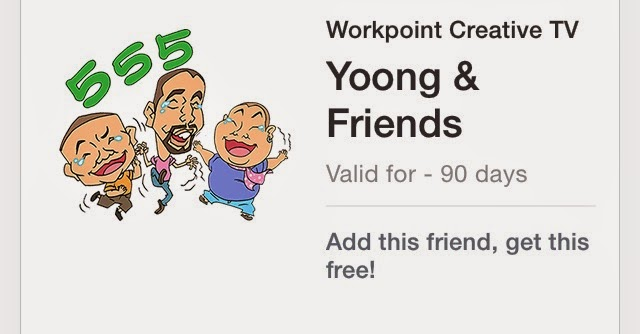 Yoong and Friend line stickers