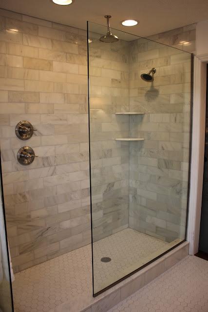 Custom bathroom remodel in edgewood wa ctmgranite design center - Custom Doorless Shower Designs Submited Images