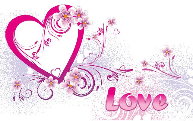 Happy Valentine day pink love