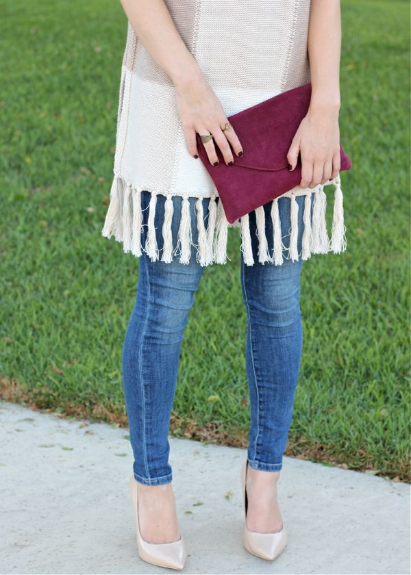 J.Crew, clutch, envelope, burgundy, wine, rings