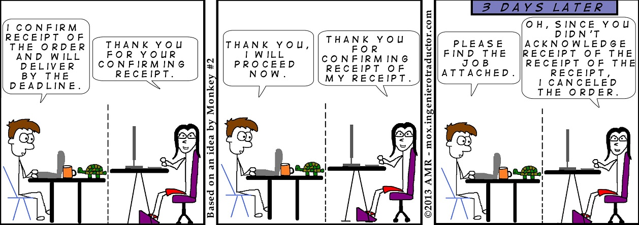 cartoon confirmation of receipt