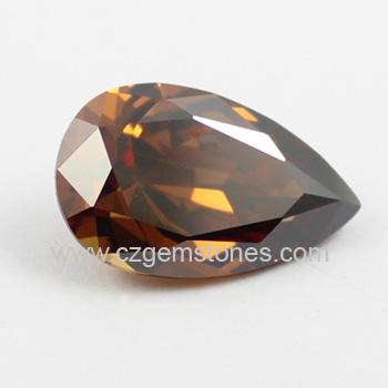 AAAAA cubic zirconia Pear Coffee Gems