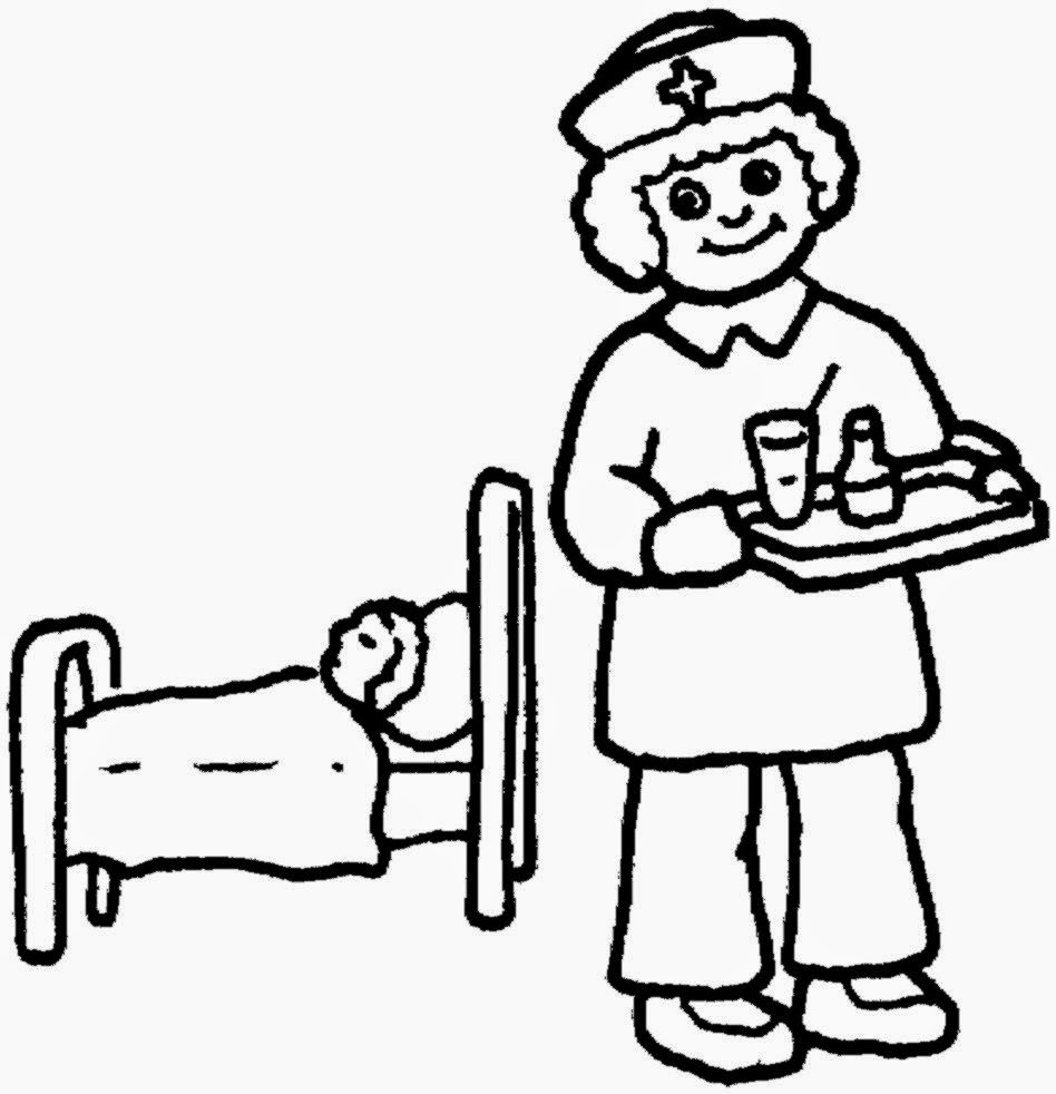 Clip Art Nurse Coloring Pages Breadedcat Free Printable Coloring