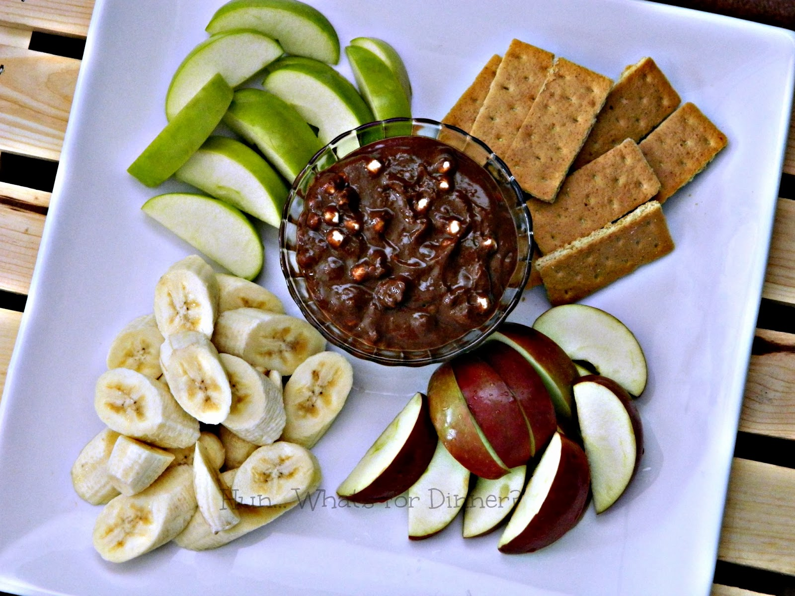 Hun... What's for Dinner? Rocky Road Brownie Batter Dip. Perfect for Game Day!