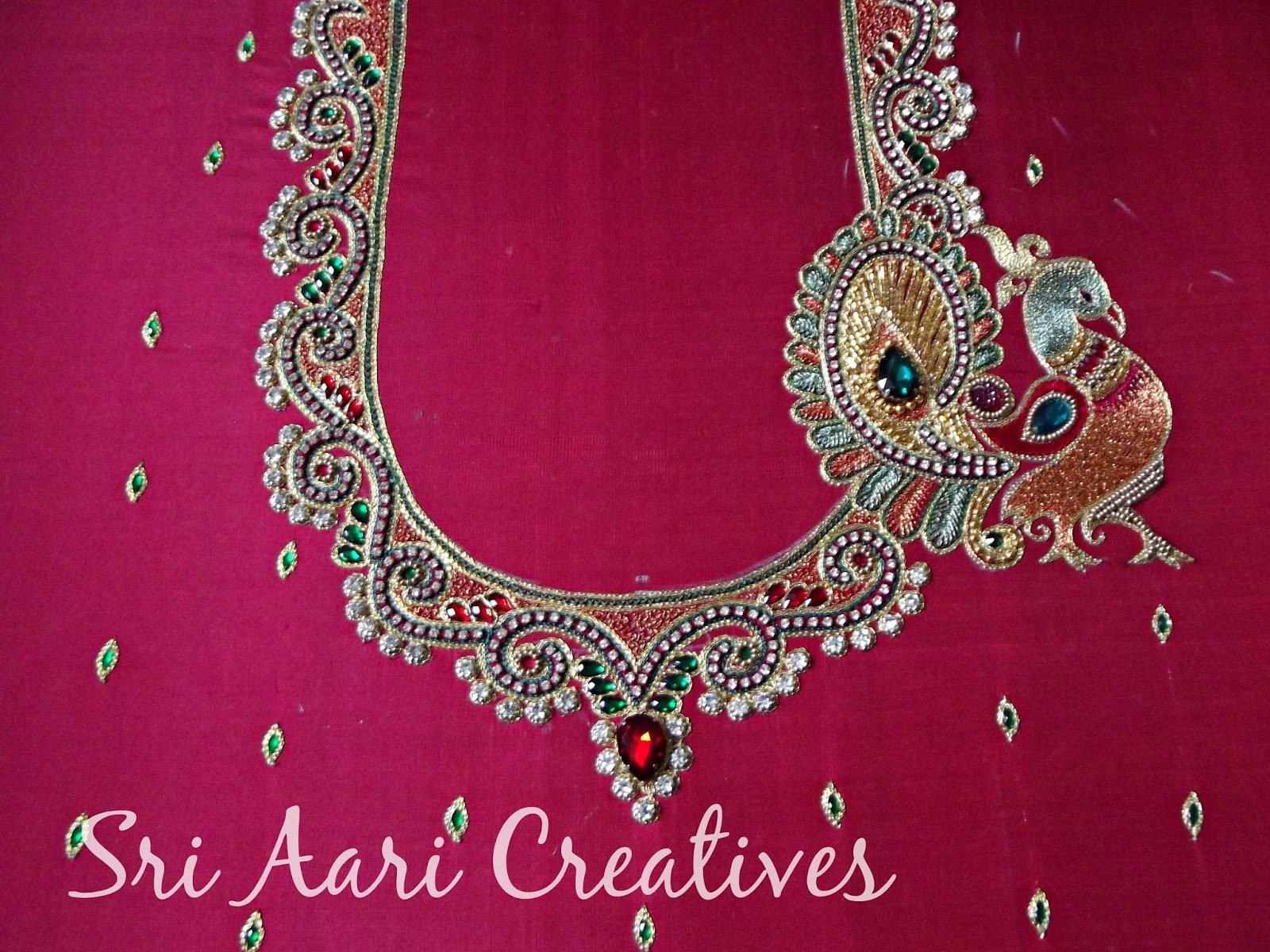 Sri aari creatives wedding blouse designs bridal blouses