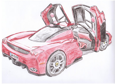 draw ferrari enzo finished