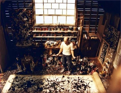 Workspaces Of The Greatest Artists Of The World (38 Pictures) - Jackson Pollock, painter
