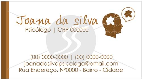 cartao de visitas psicologo simples 01 - Cartões de Visita para Psicólogos