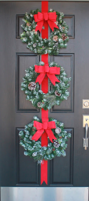 Crafty sisters three wreaths for Front door xmas wreaths