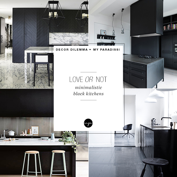 LOVE or NOT: Minimalistic black kitchens