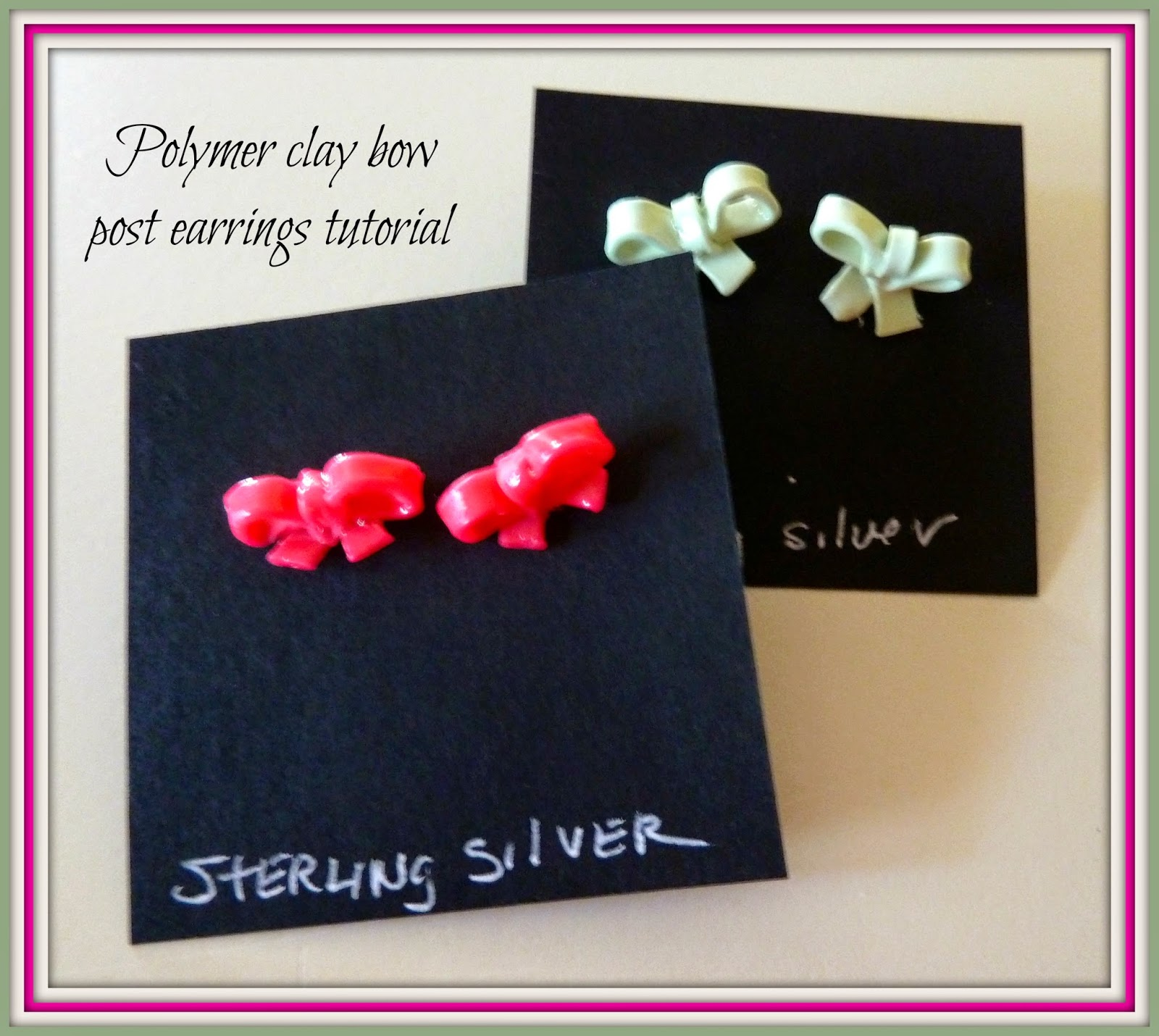 how to make polymer clay bows