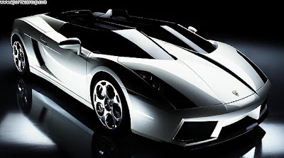 luxurious sport car, silver lamborghini
