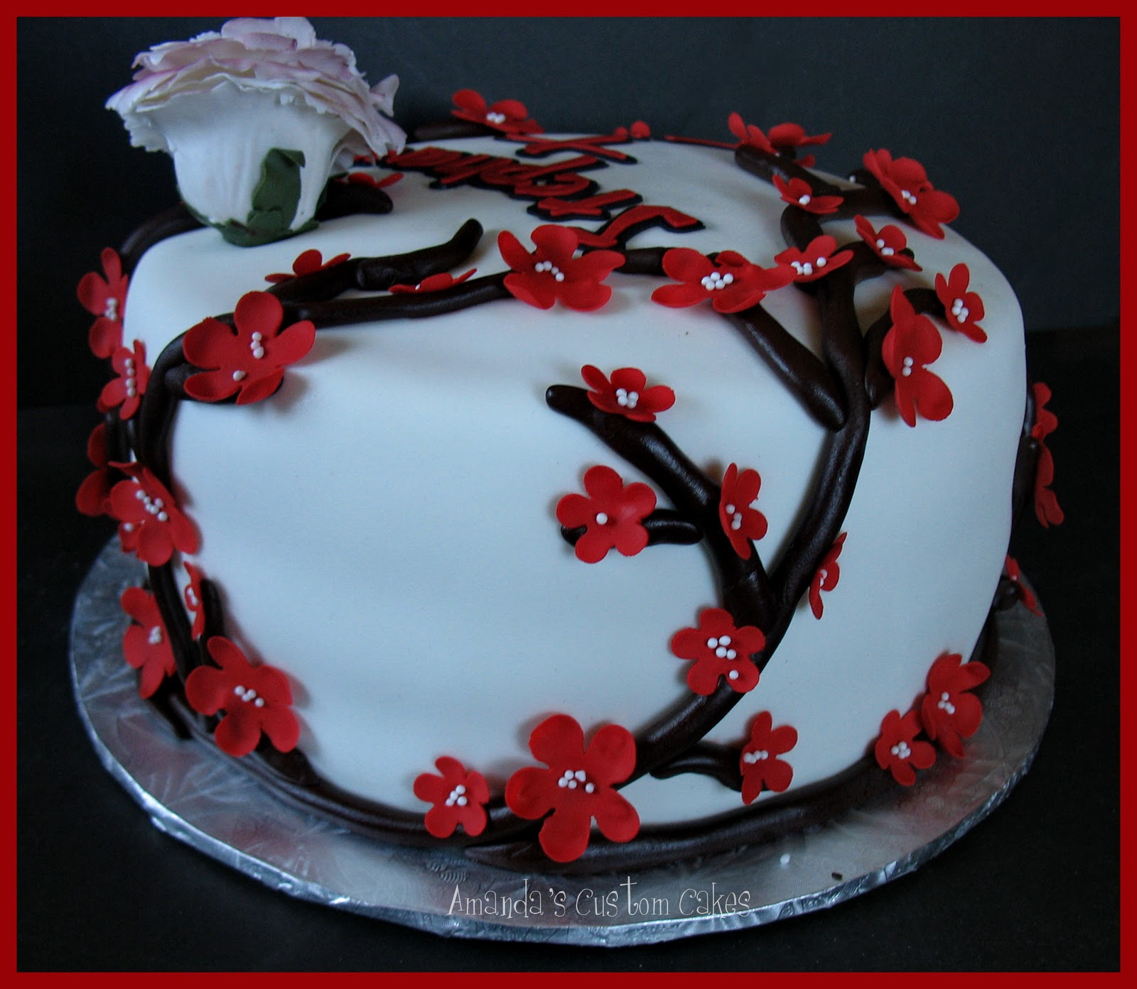 Amandas Custom Cakes Japanese Themed Birthday Cake