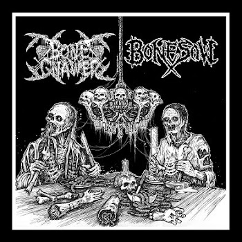BONE GNAWER/BONE SAW split VINYL
