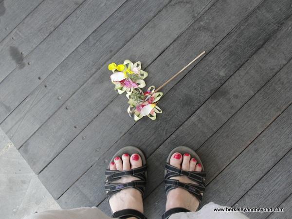 offering to evil spirit in Bali