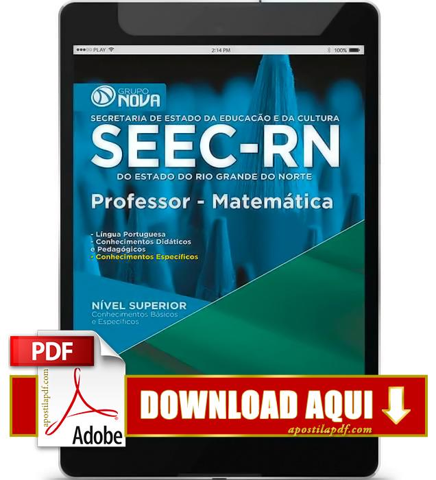Apostila SEEC RN 2015 Professor Matemática PDF Download