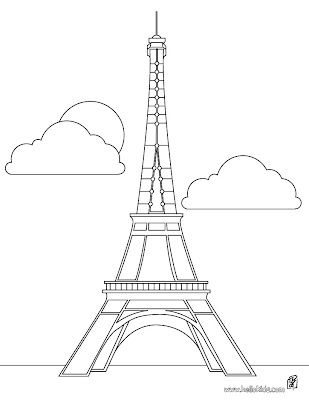 Eiffel Tower Colouring Picture on Amigas Craftaholics Sejam Bem Vindas