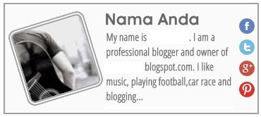 Cara Membuat Widget About Author ( tentang Penulis ) Blogger