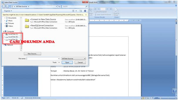 Cara Menggunakan Fitur Mail Merge Di MS. Word 2007 6