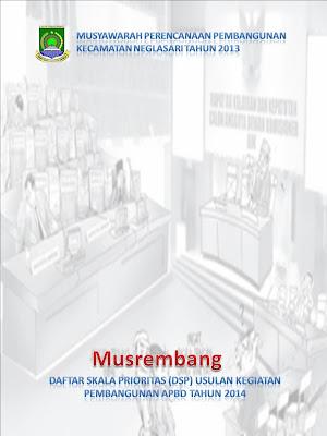 Musrenbang Kecamatan Neglasari Tahun 2014