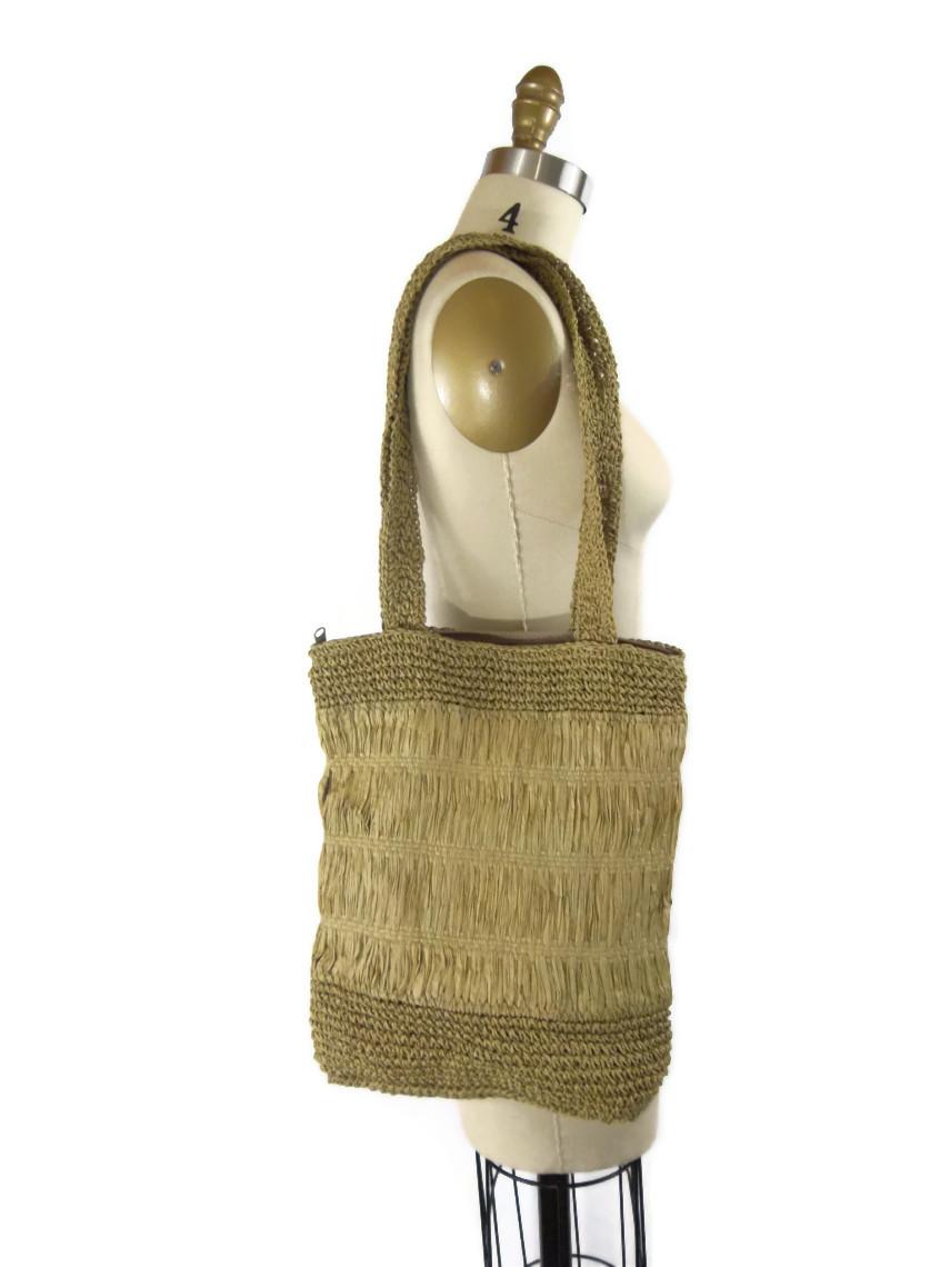 foxburrow vintage raffia bag